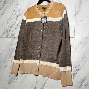 3/$60 NWT Eddie Bauer Ombre Color Block Cardigan L